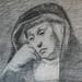 CONSTABLE John - Femme Religieuse assise (Louvre RF6115) - Detail 14