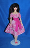 """Pink Floral """"Lets Dance"""" (toomanypictures1) Tags: ooakclothes barbie francie curvy reproduction american girl made move mattel"""