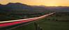 The Flatiron front range and Boulder (Hongyu Guo) Tags: boulder rockymountain lighttrail longexposure sunset landscape colorado