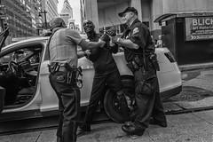 Market Street, 2017 (Alan Barr) Tags: philadelphia 2017 marketstreet marketstreeteast marketeast police blackandwhite bw blackwhite mono monochrome candid city people olympus penf