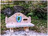 Colorful Bench (Chris C. Crowley- BUSY will be off most of May!) Tags: colorfulbench sugarmillgardens portorangeflorida bench parkbench boulders plants fence wroughtironfence