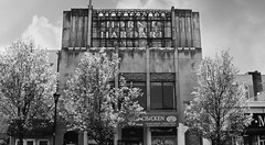 Horn and Hardart Baking Co. (David Swift Photography) Tags: davidswiftphotography pennsylvania upperdarbypa hornandhardart signs oldsigns artdeco architecture architecturaldetail 35mm nikonfm2 ilfordxp2