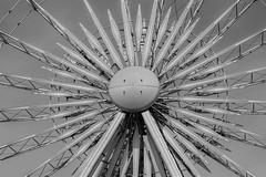The Wheel of Liverpool (SteveJ442) Tags: liverpool merseyside wheel ferriswheel keelwharf england uk nikon blackandwhite blackwhite bw mono monochrome patterns