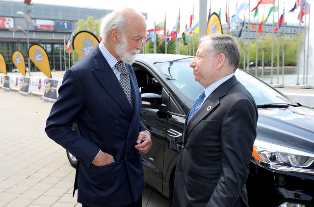 HRH Prince Michael of Kent in discussion with Jean Todt