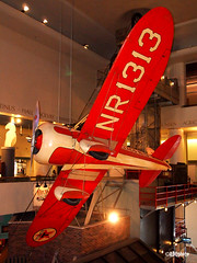 ChicSciMus_031_TravelAir (AgentADQ) Tags: museum science industry chicago illinois 2018 airplane aviation plane transportation gallery travel air typer r racer mystery ship texaco 13