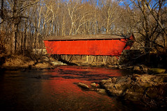 Covered (Tim Pohlhaus) Tags: jericho covered bridge gunpowder falls river building maryland