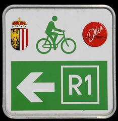 Donau Radweg / Danube Bicycle Route (Runemaker) Tags: donau radweg danube bicycle bicycling cycling route austria oberösterreich upperaustria österreich sign schild