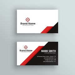 Business Card professional red and black business card design (Best Designer BD) Tags: business card design vector template corporate professional elegant modern creative visiting brand identity id layout contact graphic abstract office print