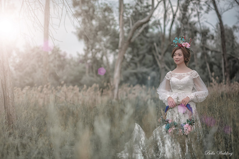 嘉義新秘,新秘,秘境精靈婚紗,仙仙風造型,精靈皇冠