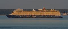 The brand new Mein Schiff 1 in the early morning sun (frankmh) Tags: ship cruiseship meinschiff1 tui hittarp sweden öresund denmark earlymorning sea water vessel