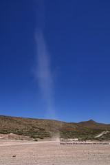 near Ranquil del Norte, mini tornado (blauepics) Tags: argentina argentinien patagonia patagonien landscape landschaft mendoza province provinz provincia scenery desert wüste dry trocken buta ranquil sand mini tornado blow twister