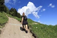 ça grimpe..... (bulbocode909) Tags: valais suisse montagnes mex nature forêts arbres nuages printemps chemins paysages vert bleu gens groupenuagesetciel