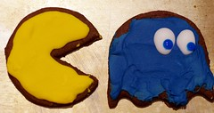 Gus's birthday cookies - Pacman and Ghosts (Niki Gunn) Tags: pentax k5 march 2018 tamron 90mm macro tamron90mmmacro tamronspaf90mmf28 tamron90mm tamron90mmf28 pacman ghost cookies