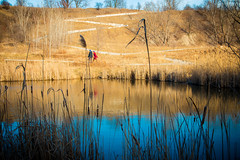 Zig Zag / Reflection (A Great Capture) Tags: path people pond quarry urban nature reflection toronto agreatcapture april22018 brickworks evergreenbrickworks agc wwwagreatcapturecom adjm ash2276 ashleylduffus ald mobilejay jamesmitchell on ontario canada canadian photographer northamerica torontoexplore spring springtime printemps hen810