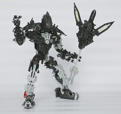 Ultra Stronius (Ron Folkers) Tags: bionicle lego technic moc stronius black silver weapons tridant strong big evil bad powerful