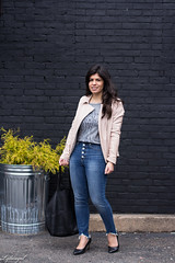 blush leather moto jacket, button fly jeans, cheers tee-2.jpg (LyddieGal) Tags: athleta matine mejuri naturalizer black blush danielwellington denim fashion gap grey jcrew outfit scalloped spring style wardrobe watch weekendstyle