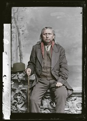 Stepping out of time Waulicomo (rob.vndnB) Tags: the library congress colorization colorized c m bell people portrait photo photogragh photographs picture public old rvndnb american archives border glass looking light image negative negatives print year 1890