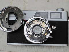 canonet ql19 old type (zaphad1) Tags: canonet ql19 ql 19 repair timer shutter creative commons free photo