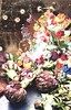 Still Life With Artichokes, Monkey And Fireflies (The Grand Collage) Tags: still life vegetables artichokes flowers painting japan fireflies irises tulips roses passionflower grapes fruit