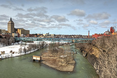 20180321-DSC_9831_2_3_4HDR-Edit (the Mack4) Tags: 2018 geneseeriver hdr march newyork niksoftware rochester water blue bridge clouds