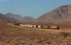 Aqaba Railway Corporation 310 + 301 Al Kahldi (OliverHeckmann) Tags: jordanien jordan aqaba railway corporation arc phosphatzug phosphatetrain general electrc ge u20c alkahldi