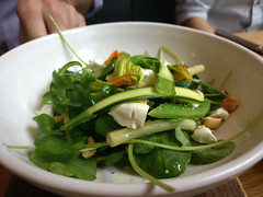 reggie's rabbit food (n.a.) Tags: salad feta green leaves bowl toms kitchen canary wharf london e14