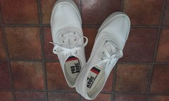 Plimsolls of the day Pair 118 - white Pro-Keds canvas sneakers. (eurimcoplimsoll) Tags:
