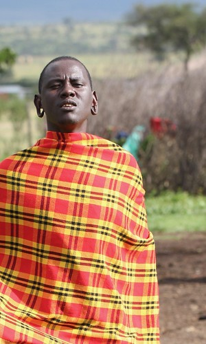 Maasai man with ears pierced