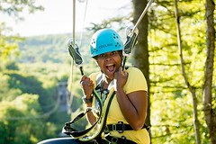 There is an adventure out there for every level and interest; you just have to find it. http://j.mp/2iHg79j (Skywalker Adventure Builders) Tags: high ropes course zipline zipwire construction design klimpark klimbos hochseilgarten waldseilpark skywalker