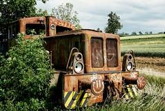 runaway Train (A.K. 90) Tags: lok zug train rost rust alt lostplace technik ausflug urban urbex industrie yellow black smiley transport transportation