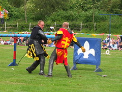 DSCF3865 (SierPinskiA) Tags: ruffordabbeycountrypark rufford knightsofnottingham fujixs1 jousting medieval horse knights goldeneagle falcon