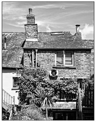 Ramshackle (Photography And All That) Tags: house houses stair stairs blackandwhite blackwhite buildings building monochrome monochromatic monochromes canon canon5dmarkii canoneos 5dmarkii 5d mkii hayonwye hay festival lifebelt crooked chimney chimneys ramshackle character charm cottage cottages brickwork bricks tile tiles uneven roof roofs windows palm fronds leaves ivy creeper sky summer sun sunny bright whitephotoborder