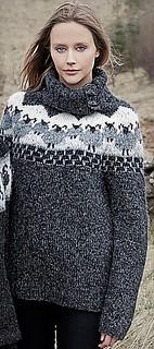 Girlfriend in her soft wool sweater