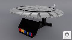 Saucer Stand (ORION_brick) Tags: lego enterprise uss ncc 1701 d saucer stardrive star trek starship stand render mecabricks space spaceship