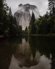 Cathedral Rock by moonlight. Yosemite. (Tanner Wendell Stewart) Tags: ifttt 500px peak mountain valley lake alpine julian alps range ridge mountainside top mountaineering yosemite