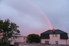 Midnight rainbow in Reykjavik (olikristinn) Tags: 19062018 2018 hávallagata hávallagata17 iceland june june2018 reykjavik reykjavík vesturbær birta bjartarnætur brightnights heima home midnightrainbow midnightsun miðbær