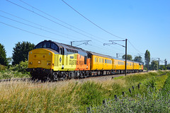 37254 + 37099 - Bannold Road - 22/06/18. (TRphotography04) Tags: colas rail freight 37254 cardiff canton 37099 merl evans 1947 2016 thunder past bannold road waterbeach working 1q99 1637 cambridge reception roads march down rs