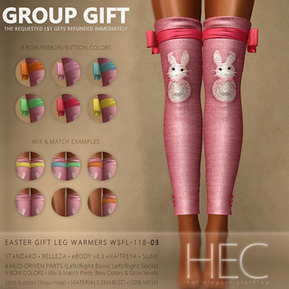 HEC (GROUP GIFT) • Easter GIFT Leg Warmers WSFL-118-03