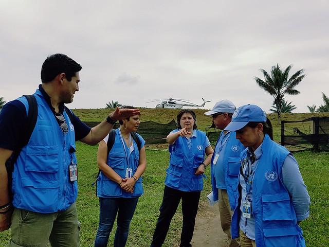 Visita de Jessica Faieta, Jefe Adjunta de UNVMC a la SL de Colinas en Guaviare. Marzo 29/18.
