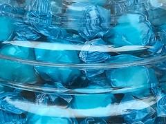 Blue treats (saudades1000) Tags: food taffies taffy candy blue