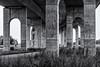 The bridge (michael_hamburg69) Tags: störbrücke bridge brücke itzehoe germany deutschland schleswigholstein kreissteinburg stör flus river 2010 strasenbrücke stabbogenbrücke tiedarchbridge architecture arch arches architekt profbernhardwinkingarchitektenbda brückenpfeiler architektur beton concrete brutalismus
