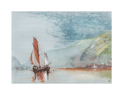 Scène de rivière (Yvan LEMEUR) Tags: voilier rivière scènederivière aquarelle watercolour acuarela peinture