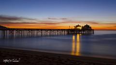 Malibu Pier Twilight_MG_0651 (Alfred J. Lockwood Photography) Tags: alfredjlockwood nature seascape twilight bluehour dawn sunrise reflection malibupier southerncalifornia pacificocean pacificcoast beach winter silhoutte