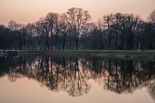 Sunset in Clara-Zetkin-Park, Leipzig