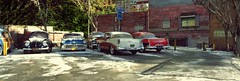 Winter Parking lot (gpholtz) Tags: diorama miniatures 118 diecast 1956 belair chevrolet