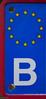 Licence Plate (björnvandenbulcke) Tags: licence plate detail belgium macro monday europe stars