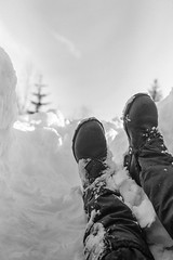 In deep (sterileeye) Tags: fujifilm fuji fujica fujigw690iii gw690iii gw690 winter snow boots nature norway rodinal ilford ilfordfilm ilfordhp5 hp5