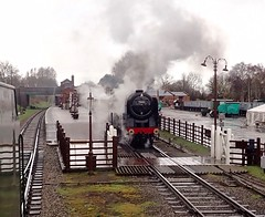 Great Central Railway Quorn Leicestershire 4th April 2018 (loose_grip_99) Tags: great central railway railroad rail train leicestershire eastmidlands england uk gcr britishrailways br brit standard pacific 462 70013 olivercromwell quorn preservation transportation gassteam uksteam trains railways january 2018 steam engine