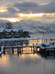 End of the day and year (jamica1) Tags: snset reflection okanagan lake dock kelowna bc british columbia canada