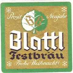 Austria - Brauerei Blattl (Saalfelden) (cigpack.at) Tags: austria österreich blattl saalfelden festbräu weihnachten christmas xmas bier beer brauerei brewery label etikett bierflasche bieretikett flaschenetikett